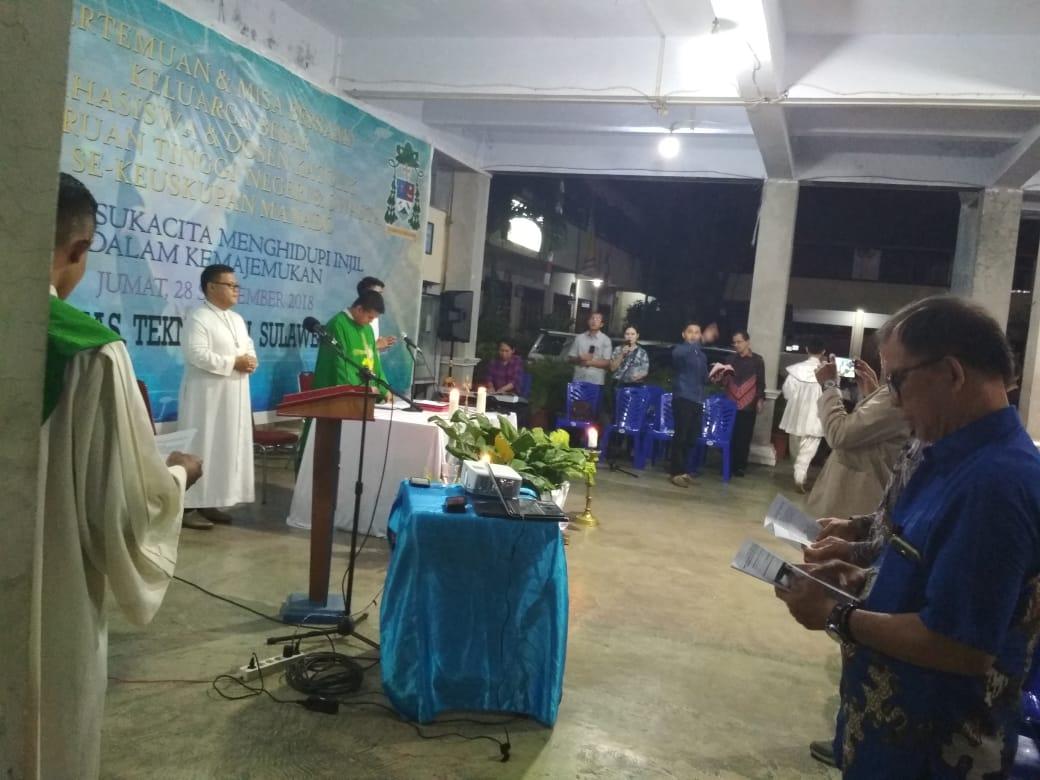 UTSU Tuan Rumah Ibadah Mahasiswa Katolik Manado