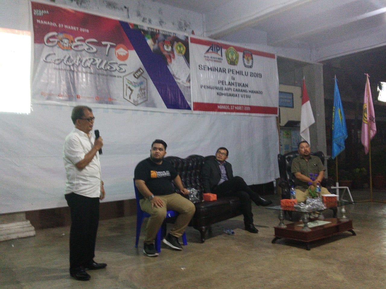 UTSU, AIPI dan KPU Sulut Gelar Seminar Pemilu, Detik-Detik Menuju TPS