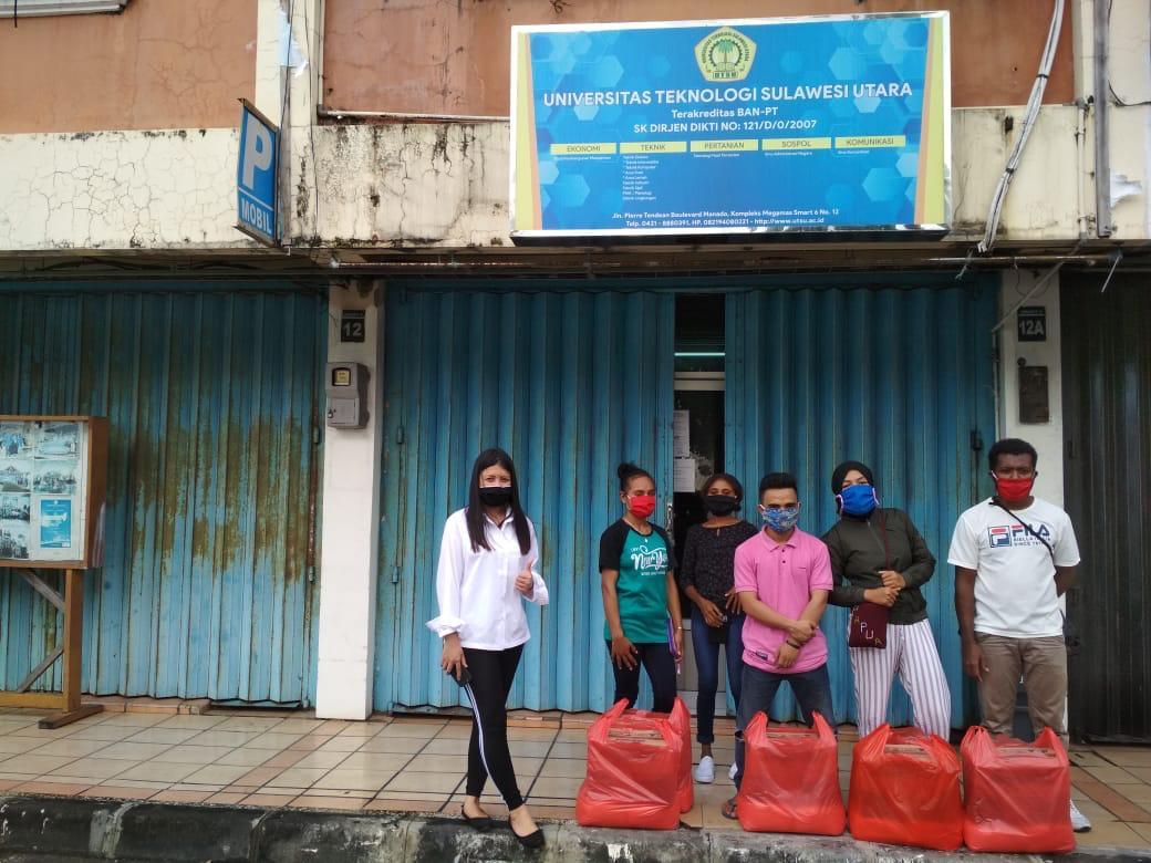 UTSU Manado Salurkan Bantuan untuk Mahasiswa Terdampak Covid-19