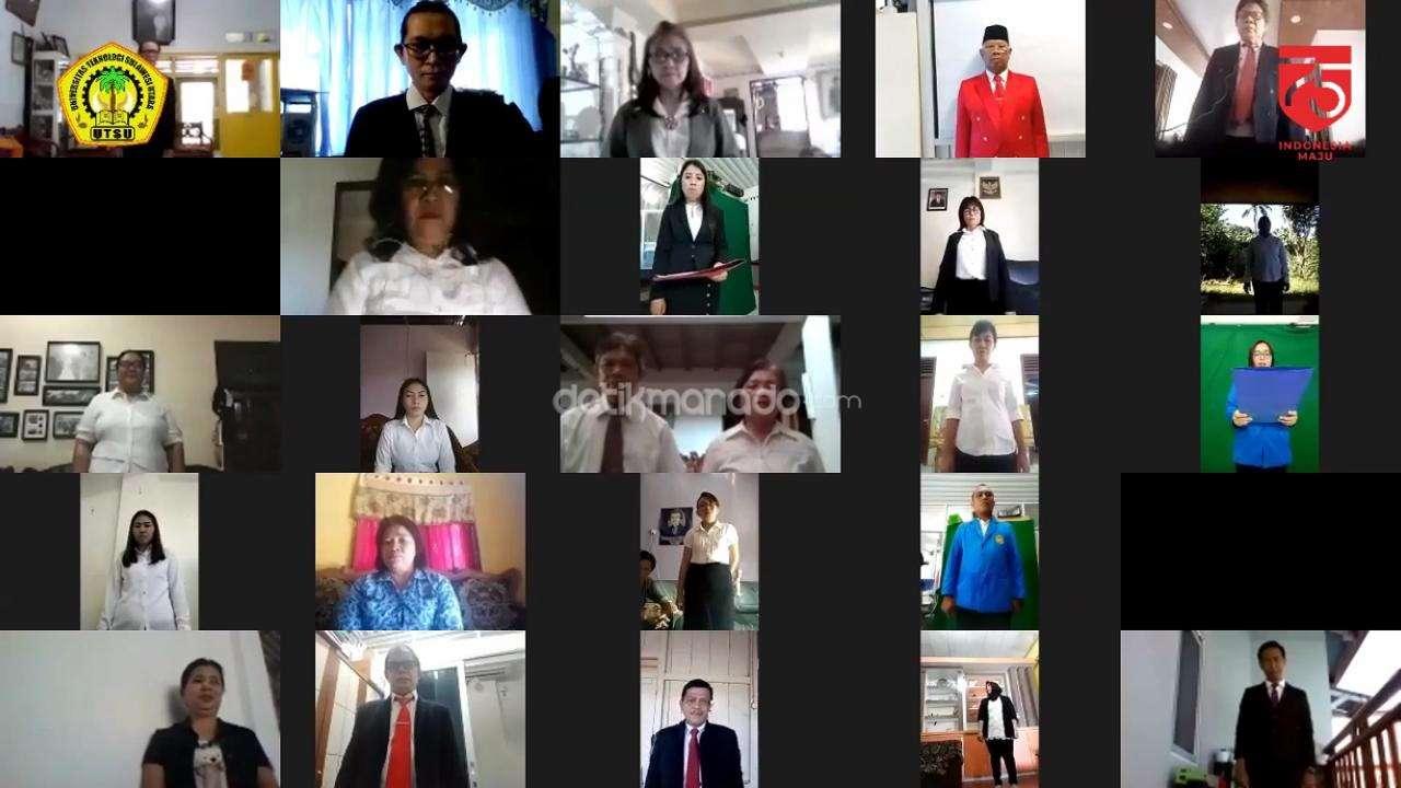 UTSU Manado Menggelar Upacara Virtual HUT ke-75 RI